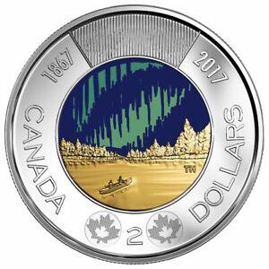 Canada 2017 $2 Dollar Glow in the Dark  Dance of the Spirits Toonie coin BU