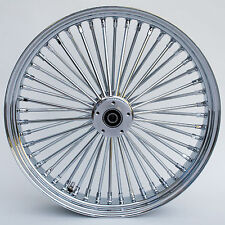 "Chrome Ultima 48 King Spoke 21"" x 3.5"" Front Dual Disc Wheel for Harley Models"