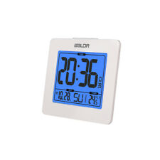 BALDR B0114 Atomic Desk Alarm Clock LCD with Date Time Indoor Temp Backlight
