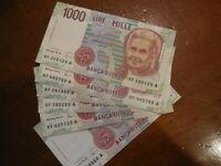Banconota da 1000 lire Montessori serie sostitutiva XF