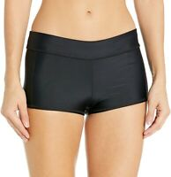 Speedo Women's 240817 Solid Black Boyshort Bottom Swimwear Size M