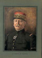 WWI Portrait Couleur Général Louis Ernest de Maud'huy Saint-Cyr B ILLUSTRATION