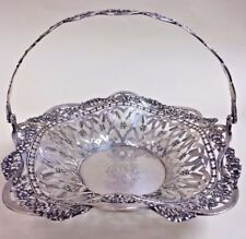 ANTIQUE German 800 Silver Handled Basket