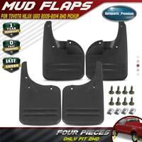 for Toyota Hilux Vigo 2005-2014 Splash Guards Mud Flaps Molded Front&Rear
