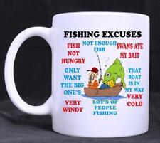 Fishing Excuses, Funny  Novelty 11oz Tea/Coffee Mug, birthday, Gift, fathers day