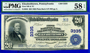TOP POP 1/0 CH# 3335 - 1902 $20 P/B (( FINEST Known - Elizabethtown, PA )) # 903