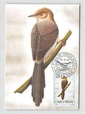 S. TOME MK 1983 VÖGEL SAO-TOME-PRINIE BIRDS CARTE MAXIMUM CARD MC CM m292