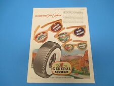 1948 The General Squeegee Tire, It pays to be Far-Sighted, Print Ad, PA004