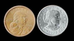 US Dollars - 2000 P Sacagawea & 1979 S Susan B Anthony Both in.Nice Condition.
