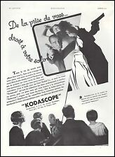 Publicité KODASCOPE camera projecteur cinema film vintage print ad  1932 - 5h
