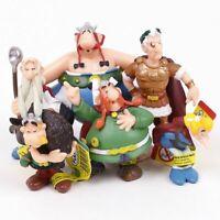 6pcs/set Classic France Cartoon The Adventures Of Asterix Pvc Figures For Kids