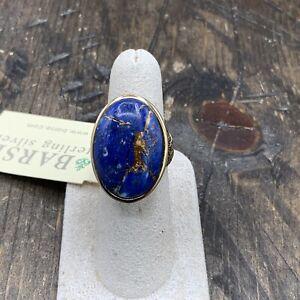 Barse Lauren Bronze Infused Lapis Ring- Bronze-7-NWT