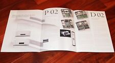 ESOTERIC P-02 D-02 brochure SACD Super Audio Transport DAC Converter high-end