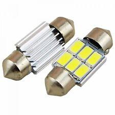 2pcs LED Festoon Dome Light Interior  Bulb White DC 12V 31MM 6-SMD 5730 LED