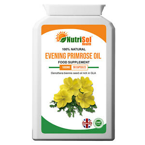 Evening Primrose Oil 1000mg 90 Capsules Joints Eyes Hormone Health Rich in GLA