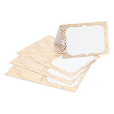 50 PCS DAVID TUTERA GOLD GEOMETRIC BORDER PLACE CARDS