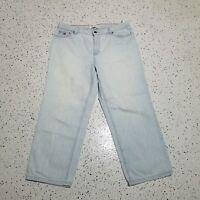Tommy Hilfiger Vintage Women's Denim Capri Jeans ~ Sz 10 ~ Light Wash
