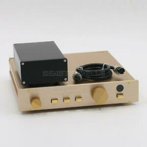 Finished Clone FM155 HiFi Hi-End Preamplifier Monitor Pre-Amp Audio With PSU New