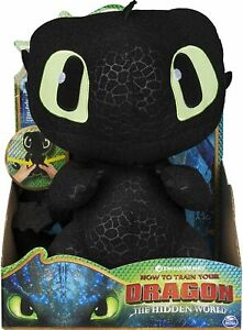 """How to Train Your Dragon TOOTHLESS Squeeze & Growl 10"""" Plush Sound PLUSH TOY"""