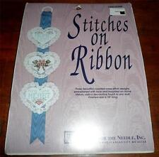 "STITCHES ON RIBBON ""Home is Where You Hang Your Heart"" #7206 *SEALED KIT (1991)"