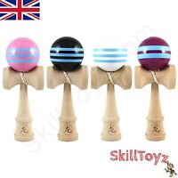 Dragon Kendama Stripe Edition Full Size Wooden Skill Toy Choice of colours  NEW!