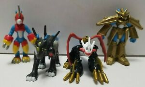 Digimon Flamedramon raidramon Imperialdramon Magnamon Mini Figure lot Bandai