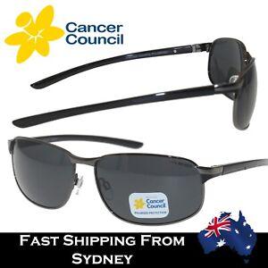 Cancer Council Mens Sports Polarised Sunglasses Gift Botany Gun Metal Smoke Mono