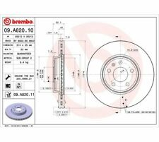 2x BREMBO Brake Disc COATED DISC LINE 09.A820.11
