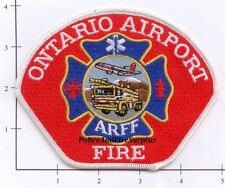 California - Ontario Airport ARFF CA Fire Dept Patch Aircraft Rescue Firefighter
