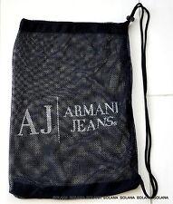 AJ ARMANI JEANS Dark Blue Travel Dust Mesh Bag for Wedge Pump Platform or Purse