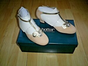 Hotter Women's Darcy Court suede-leather  Buckle Fastening size 6 STD  NEW