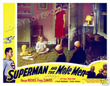 SUPERMAN AND THE MOLE MEN LOBBY SCENE CARD # 8 POSTER 1951