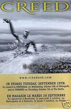 Creed 1999 Human Clay Original Promo Poster Canadian