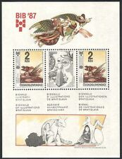 Checoslovaquia 1987 Aves/Children's Books/Art/Animación/literatura m/s (n40355)