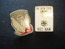 2 Vietnam War Lapel Pins: US 503rd AIRBORNE INFANTRY RGT + I'VE BEEN THERE