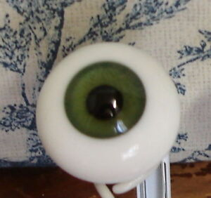 Popular size 28mm Glass Paperweight Doll Eyes, 28mm Green, beautiful doll eyes