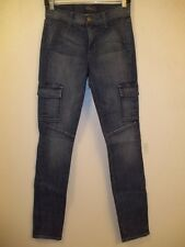 FIDELITY Delaware Blue Denim PANTHER Stretch Cargo Jeans 26 NWT