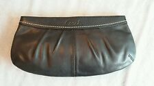 COACH Soho Pleated black Leather F13734 Wristlet Clutch style handbag