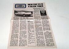 1978  FIAT LANCIA Meet the PRESS Australian Sales Brochure X1/9 131 132  Beta