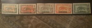 Cameroun- Provisional French Mandate  Postage stamps  Scott# 147-151 Mint Never