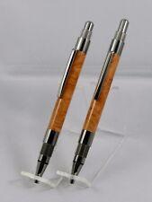 Handmade 2 MM Pencil & Ballpoint Pen set with Briar Burl. Free Gift Box! #7