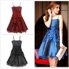 elegantes Abendkleid blau rot schwarz Ballkleid Cocktailkleid Abiballkleid Party