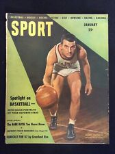 Jan 1947 SPORT Magazine-Babe Ruth article/ basketball cover M519