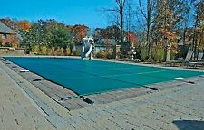 16'x32' Inground Rectangle Swimming Pool Winter Safety Cover Green Mesh 12 Year