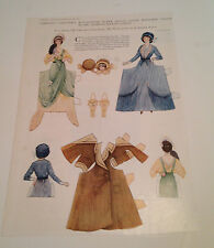 Carolyn Chesters Round Base Paper Dolls Delineator Magazine March 1918 Original