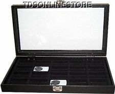 20 SLOT GLASS TOP DISPLAY CASE CAN HOLD 20 LIGHTERS