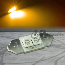 2 SMD 2SMD 31MM 5050 BRIGHT YELLOW LED INTERIOR DOME WEDGE LIGHT BULB/PANEL/MAP