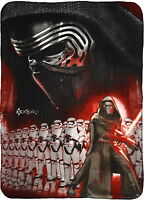 Star Wars 7 Force Awakens Fleece Blanket Bed Throw First Order Kylo Ren New Gift