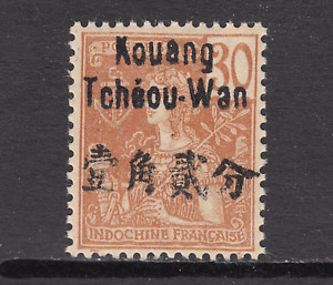 "France China Kwangchowan Sc 9 MNH.1906 30c pale brown ""France"", fresh"