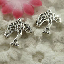 free ship 80 pieces Antique silver tree charms 19x17x1.8mm #4444